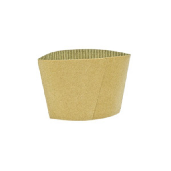 Kraft Cardboard Coffee cup sleeves to fit  12 & 16 oz single wall coffee cups