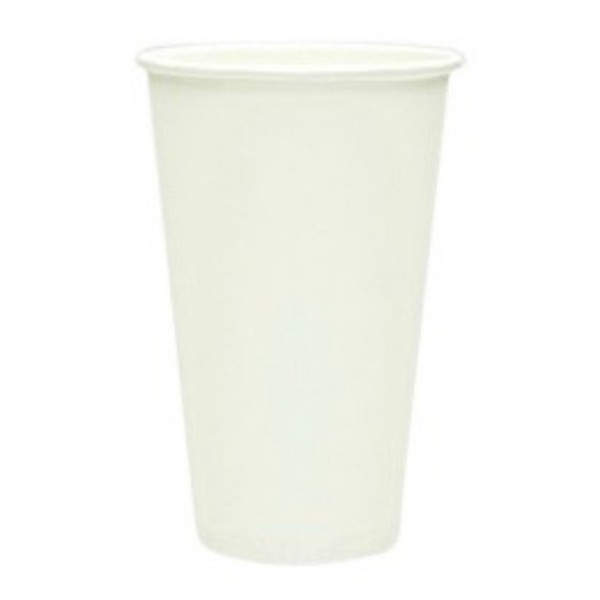 White Paper 20oz Single Wall Cup
