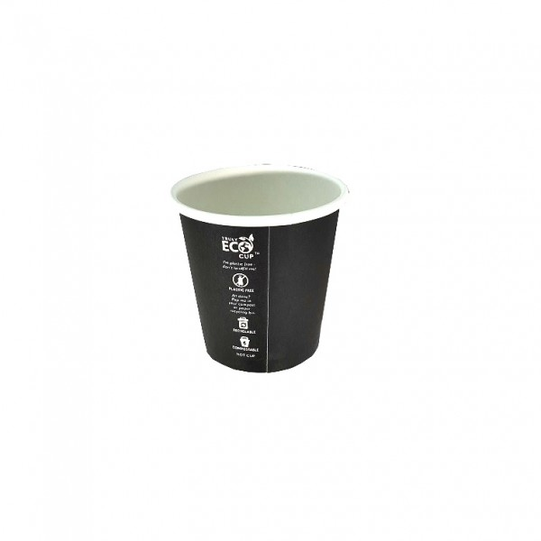 Black Truly Eco Recyclable Compostable Paper Cups