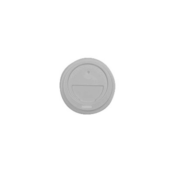 White Plastic Travel Lids