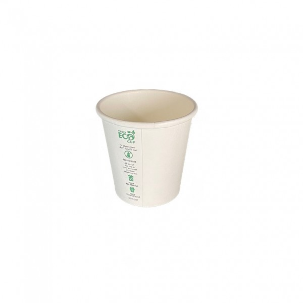 White Truly Eco Recyclable Compostable Paper Cups