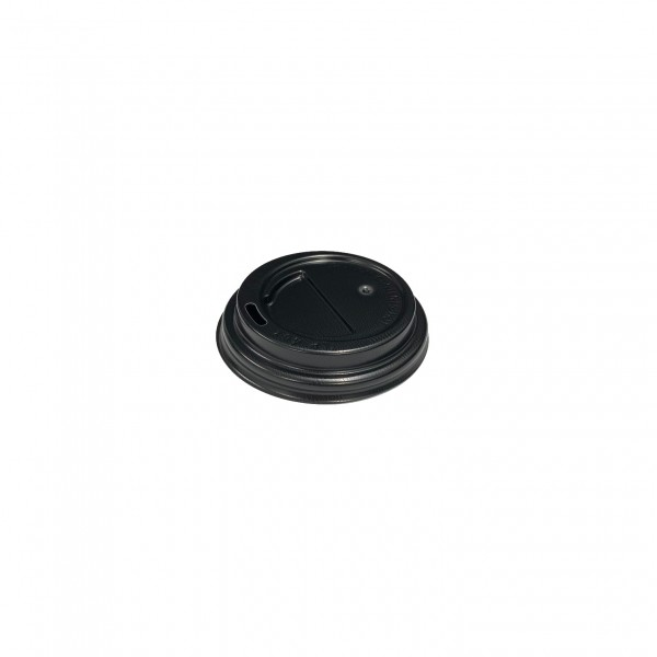 Black Plastic Lid for 4oz coffee cups