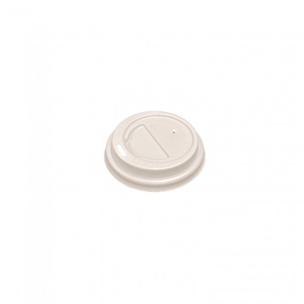 White Plastic Lid for: 4oz coffee cups