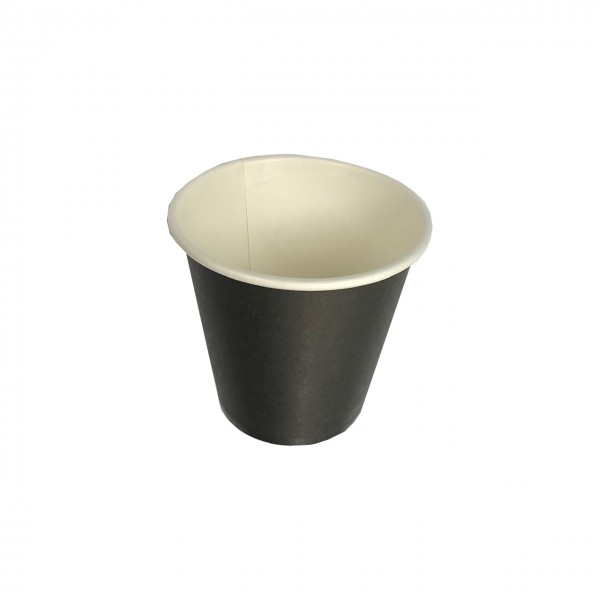 Black Single Wall Paper Coffee Cups