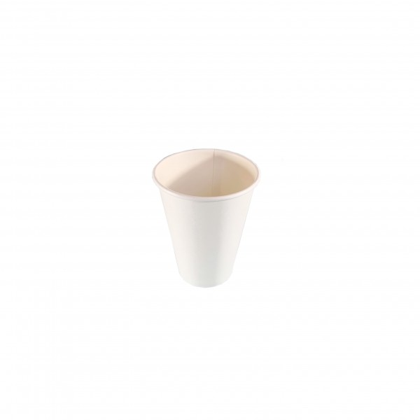 White Compostable PLA Coffee Cups