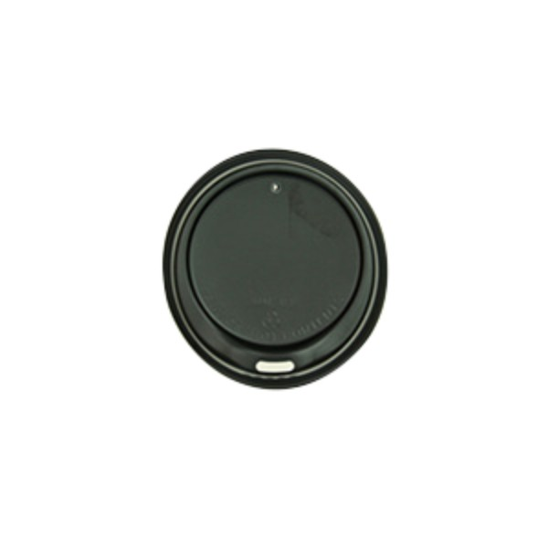 Black Plastic Biorene Black 8oz Sipper Lid