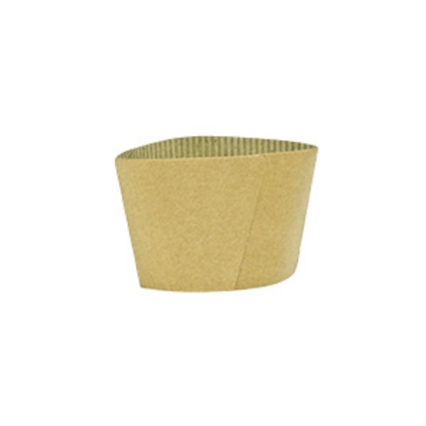 Kraft Cardboard Coffee cup sleeves to fit 8 oz single wall coffee cups