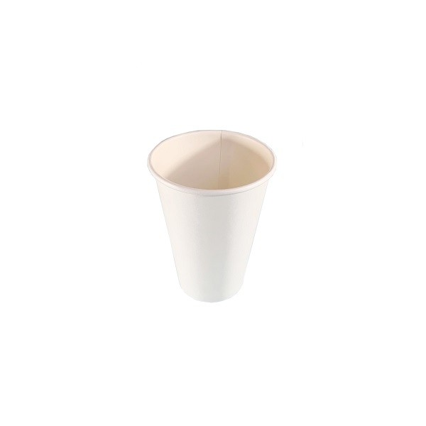 White Single Wall 350GSM Paper Coffee Cups