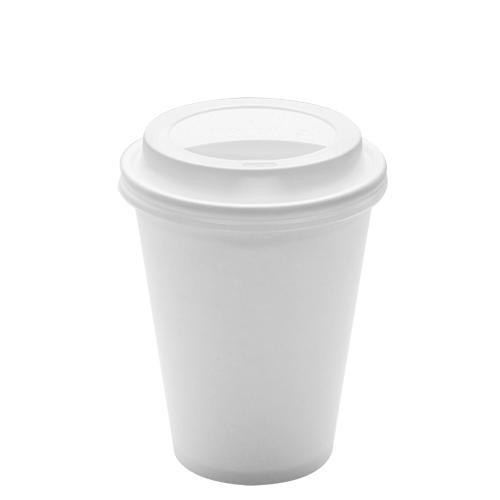 White Single Wall Paper Coffee Cups & Matching Lid