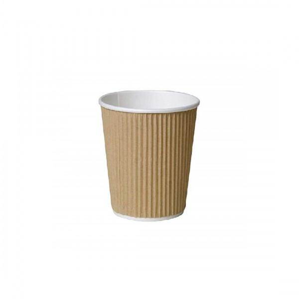 Brown Ripple Paper Coffee Cups