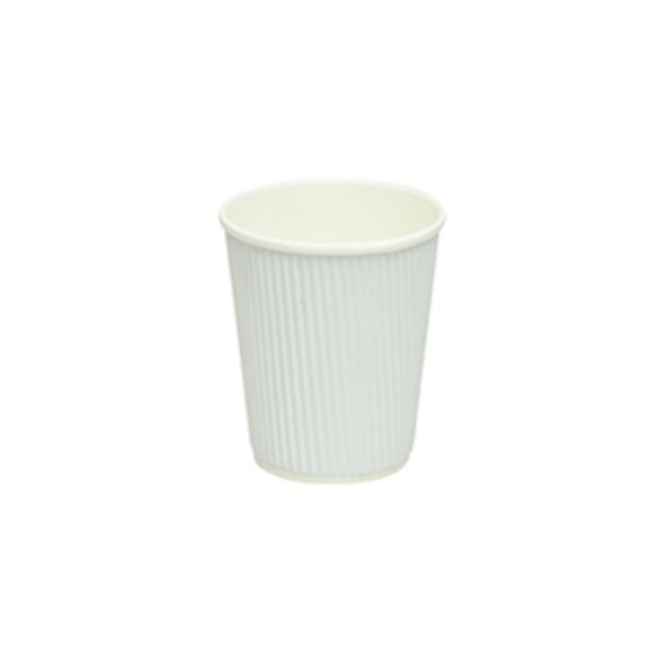 White Ripple Paper Coffee Cups