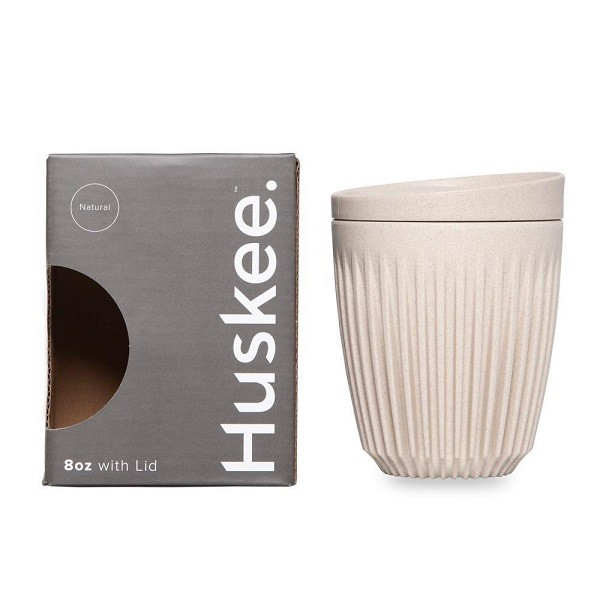 Natural Coffee Husk Polymer Huskee Cup & Lid