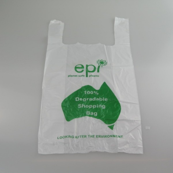 White Degradable Plastic Singlet Bags