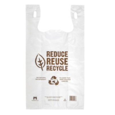 White 35um Plastic Reusable Carry Bags