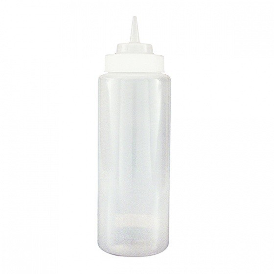 Clear Plastic Squeeze Bottle