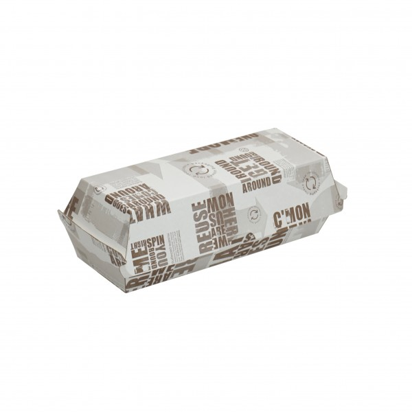 Newspaper Print Corrugated Cardboard Hot Dog Boxes