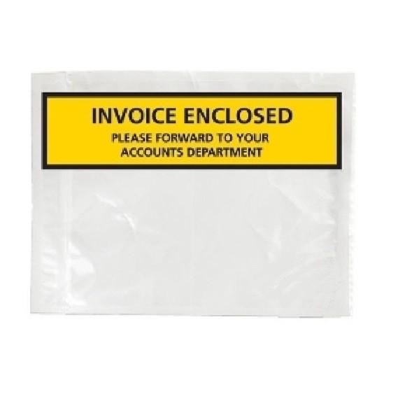 White Plastic Invoice Enclosed envelope