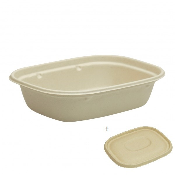 Kraft Fibre Takeaway Boxes &  Lids
