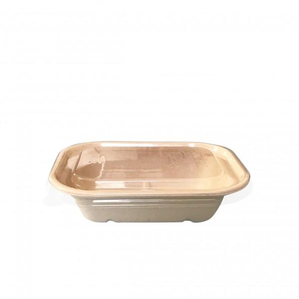 Kraft Fibre Takaway Boxes & Clear Lids