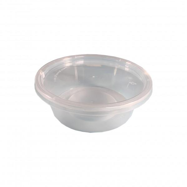 Round Plastic Container & Lid