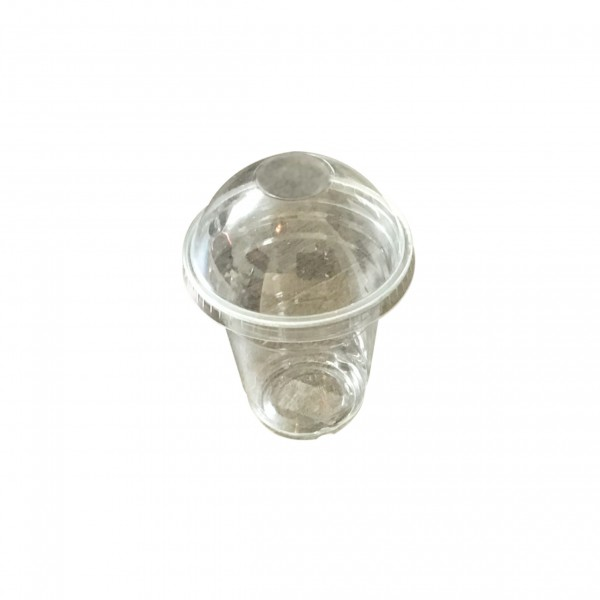 Clear PET Plastic Cups & Domed Lids