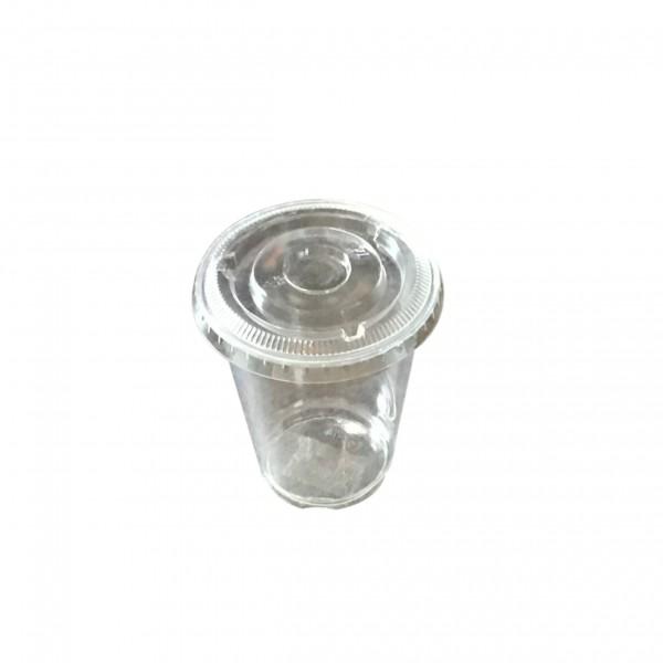Clear PET Plastic Cups & Lids