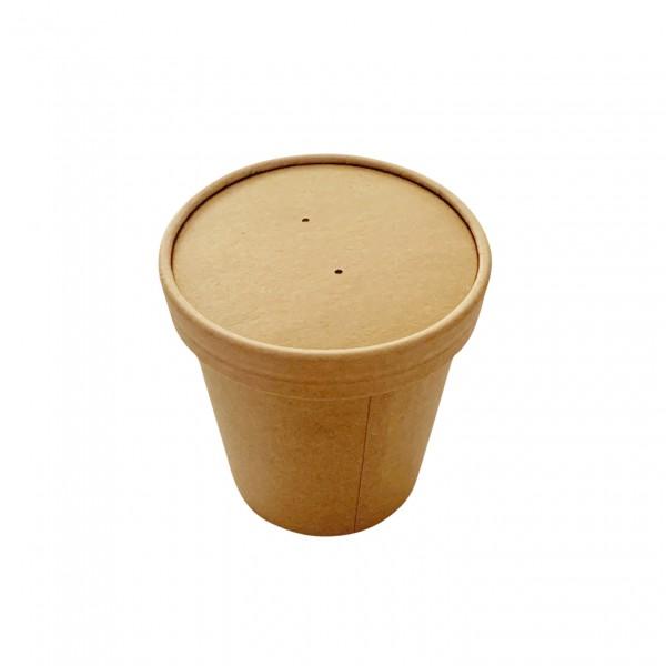 Kraft Paper Soup Tubs &  Lids