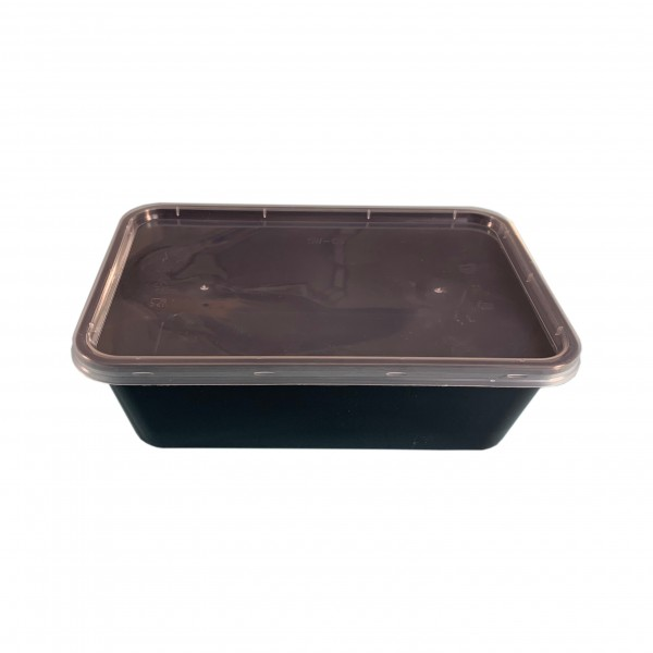 Black Plastic Container & Lid