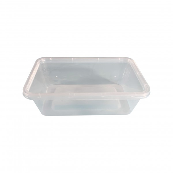 Oblong Plastic Container & Lid