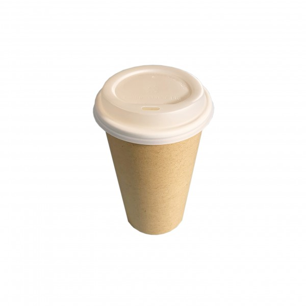 Kraft Compostable Coffee Cups & Lids