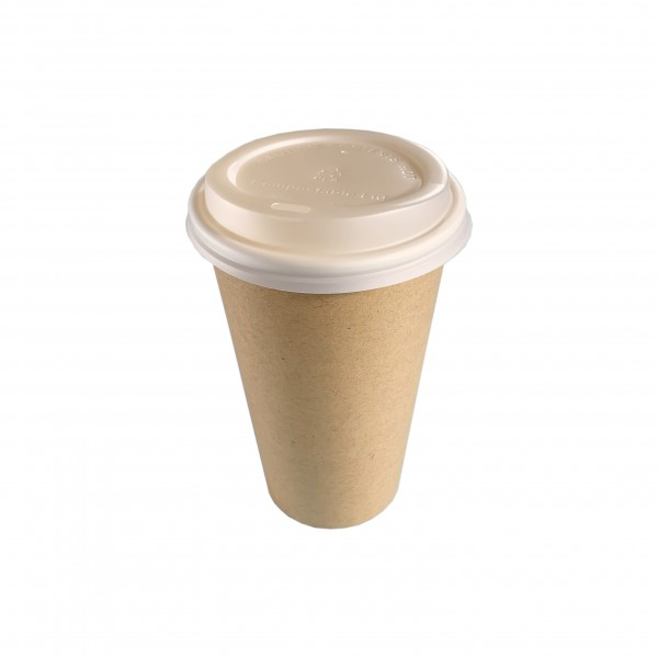 Kraft Compostable Cups &  Lids