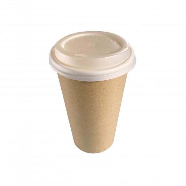 Kraft Compostable Cups & Lids