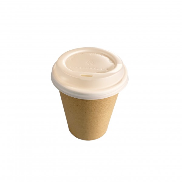 Kraft Compostable Cups &l Lids