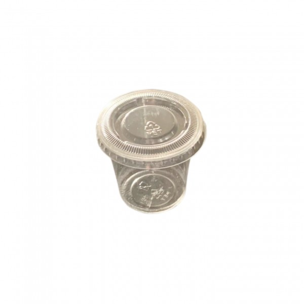 Clear Plastic Portion Cups &  Lids