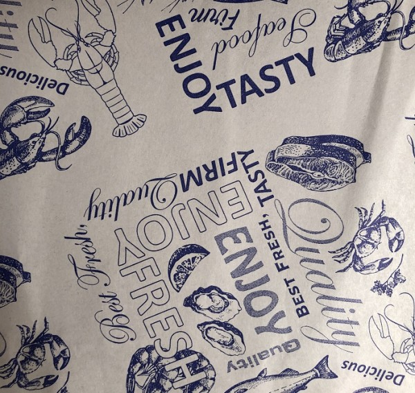 Fish Shop Seafood Wrap Seafood Print Sheets