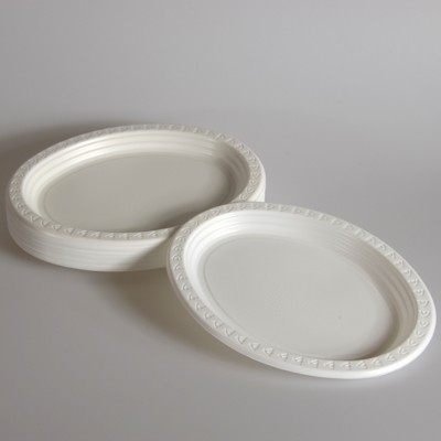 9 × 11inch | White Plastic Oval Plates & 9 × 11inch | White Plastic Oval Plates - Wholesale and Retail ...