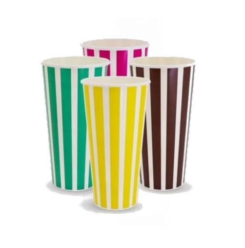 Pattern Waxed Paper Milkshake Cups