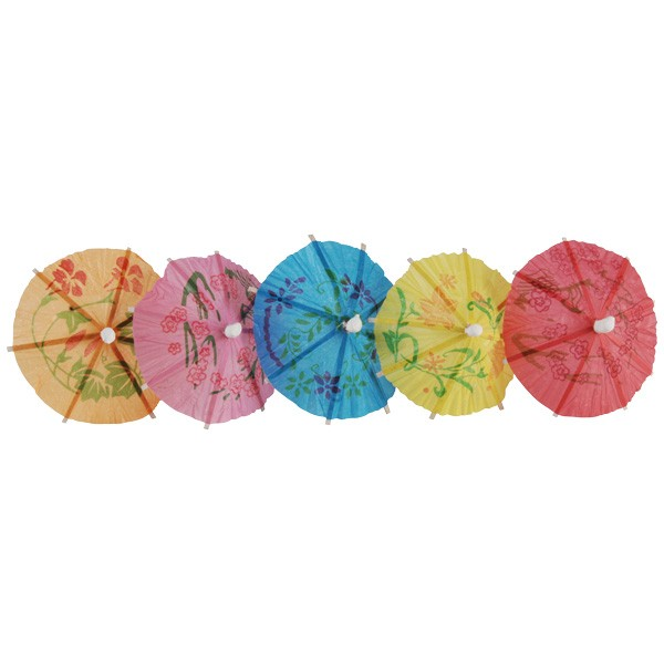 Mixed Colour Paper Parasol