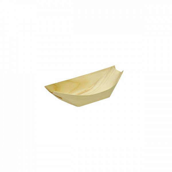 Bamboo leaf food trays designed for finger food for Bamboo canape boats