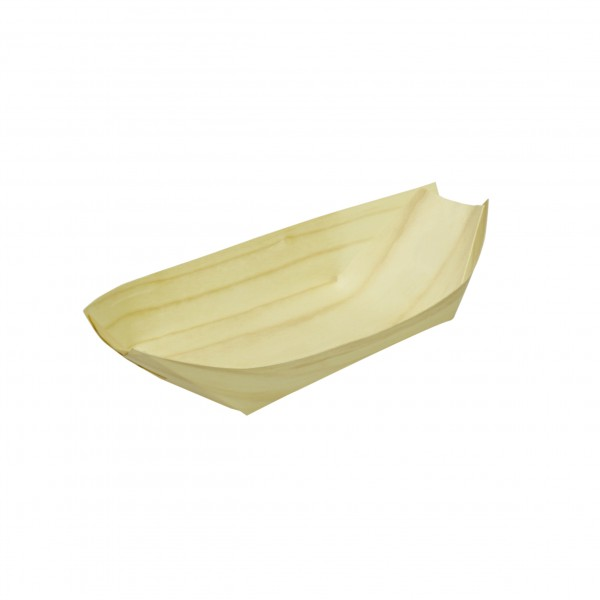 Brown Pine Boat Trays