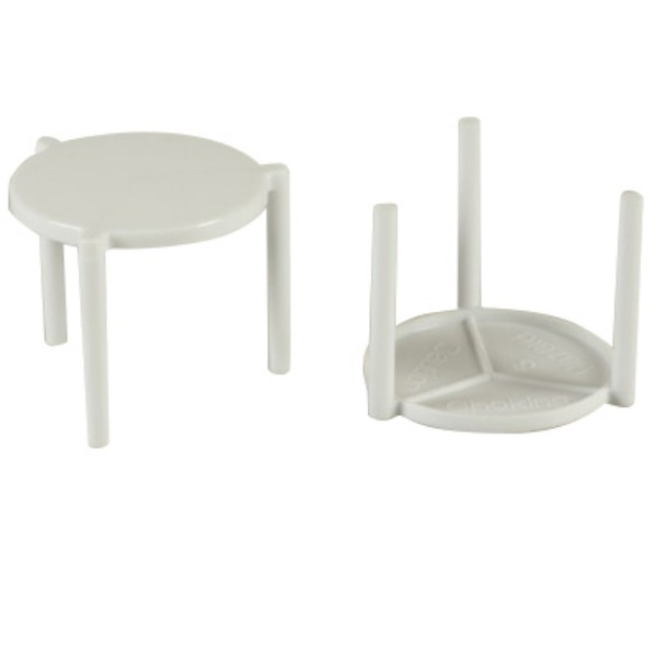 White Plastic Pizza Tables