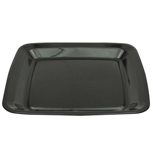 Black Plastic Square Platter