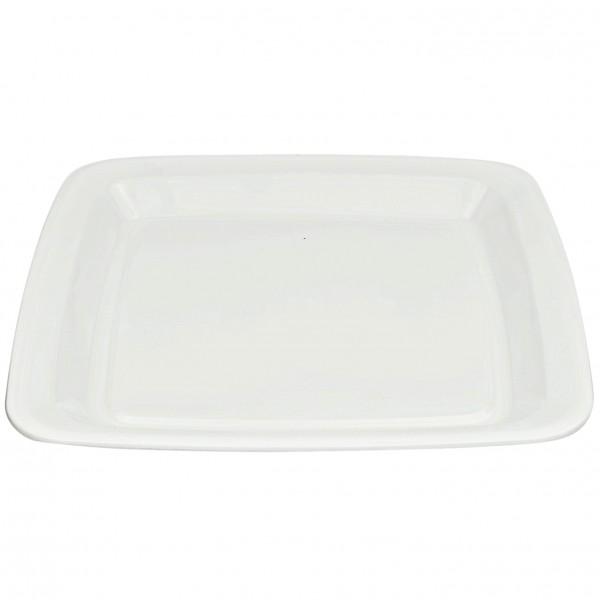 White Plastic Square Platters