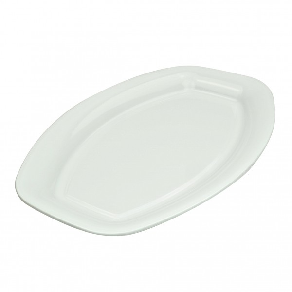 White Plastic Oval Platters