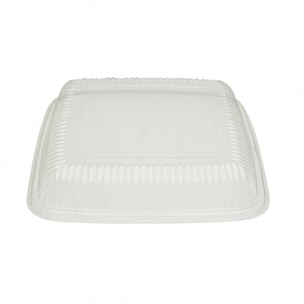 Clear PET Recyclable Platter Lid for PLATECO14