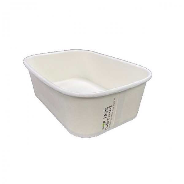 White Paper Takeaway Containers
