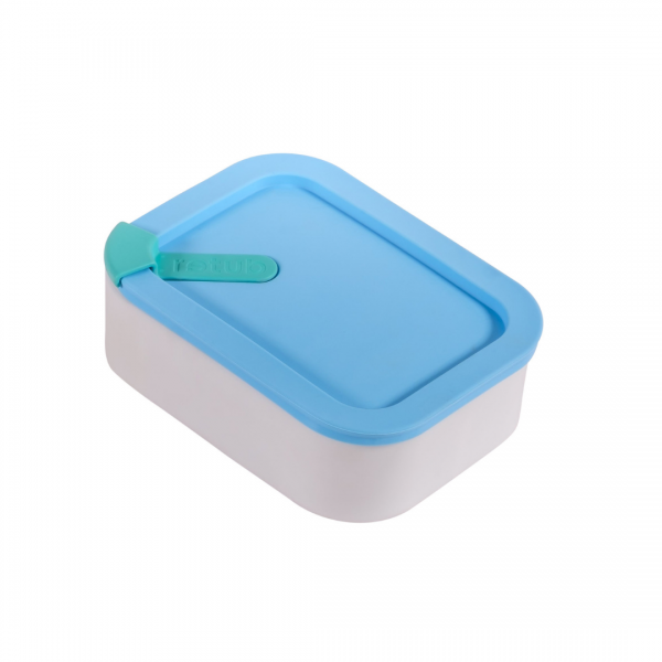 Blue (Clean Seas) Glass and Silicone Reusable Retub Container