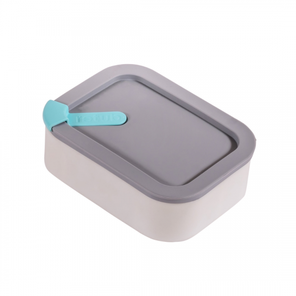 Grey Glass and Silicone Reusable Retub Container