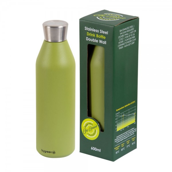 Olive Green Stainless Steel Thermo Insulated Reusable Bottle