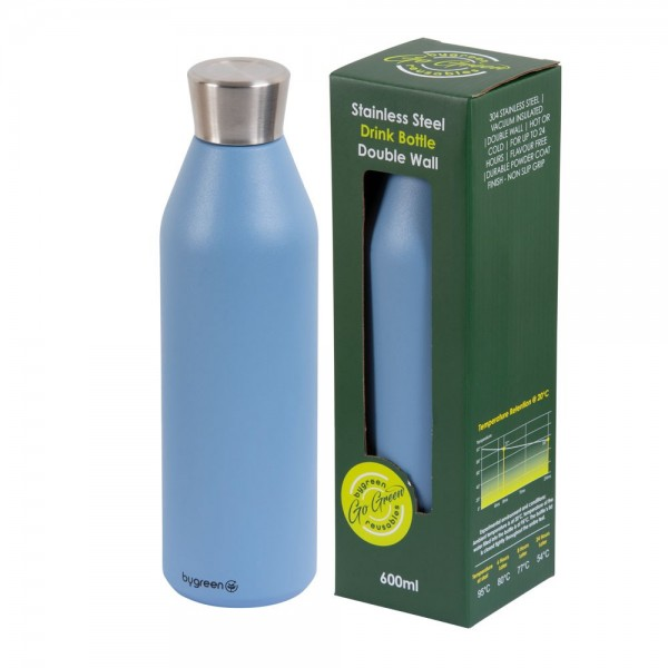 Blue Stainless Steel Thermo Insulated Reusable Bottle